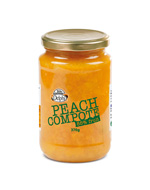 Delphi Peach Compote in Glass jar 370ml